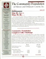 Community Foundation of Muncie and Delaware County 1995, Vol. 10, No. 01 newsletter
