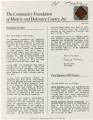 Community Foundation of Muncie and Delaware County 1989-03 newsletter