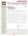 Community Foundation of Muncie and Delaware County 1995, Vol. 10, No. 04 newsletter