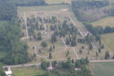 Hartford City, Indiana Independent Order of Odd Fellows Cemetery aerial view