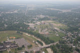 Muncie, Indiana White River aerial view
