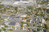 Muncie, Indiana Memorial Dr. and Hoyt Ave. aerial view
