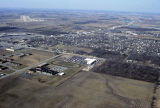 Muncie, Indiana McGalliard Rd. and Elgin St. aerial view