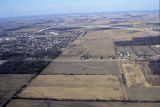 Muncie, Indiana McGalliard Rd. and Muncie Bypass aerial view