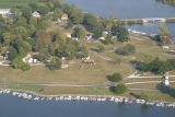 Muncie, Indiana Prairie Creek Reservoir and Campground aerial view