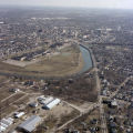 Muncie, Central High School aerial view