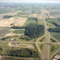 Yorktown, Indiana McGalliard Rd. and I-69 aerial view