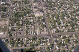 Muncie, Indiana Memorial Drive and Walnut Street aerial view