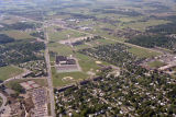 Muncie, Indiana Northside Middle School aerial view