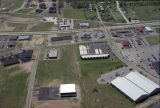 Muncie, Indiana Everbrook and Fox Ridge Lanes aerial view