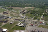 Muncie, Indiana Chadam and Fox Ridge Lanes aerial view