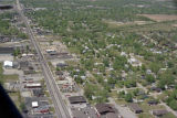 Muncie, Indiana McGalliard Road and Walnut Street aerial view