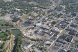 Muncie, Indiana downtown aerial view