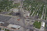 Muncie, Indiana McGalliard Road and Wheeling Avenue aerial view