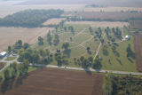 Muncie, Indiana cemetery aerial view
