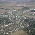 Muncie, Indiana Tillotson Avenue and Riggin Road aerial view