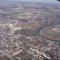 Muncie Indiana White River North Bend aerial view