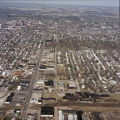 Muncie, Indiana Madison and Eighteenth Street aerial view