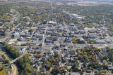 Muncie downtown aerial view