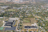 Muncie, Indiana Southside and Grissom schools aerial view
