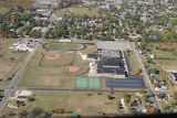 Muncie, Indiana Southside High School aerial view