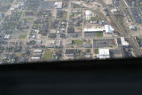 Muncie, Indiana Walnut and Willard Sts. aerial view