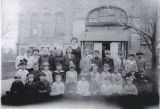 Center School teacher and elementary students