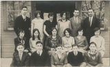 Center School teacher John Moore and 1928 junior class