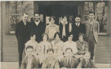 1928 Center School teacher Thelma Goar and sophomore class
