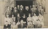 1927-28 Center School faculty and ninth grade students
