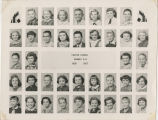 1956-1957 Center School fifth and sixth grade students