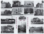 1905-1967 composite of Center School exterior views composite