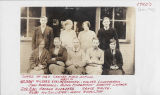 Center School teacher and Class of 1927 students