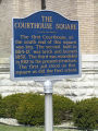 Franklin County Courthouse, Brookville, Indiana - Sign in front of courthouse