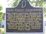 Clay County Courthouse, Brazil, Indiana - Historical Bureau sign in front of courthouse