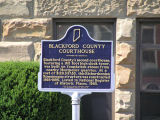Blackford County Courthouse, Hartford City, Indiana - Historical Bureau sign in front of courthouse