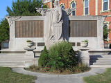 Adams County Courthouse, Decatur, Indiana - Veteran's Monument