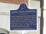 Benton County Courthouse, Fowler, Indiana - Historical Bureau sign in front of courthouse