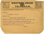 Telegram from Orville Dwyer to George Dale