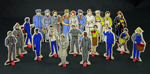 Community helper set : stand-up figures with masonite backing