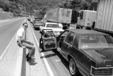 Western fan Jim Kocher stranded along I-40 en route to the Western Film Fair