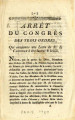 Arrêt du congrès des trois ordres … [Decision of the Congress of the three orders, which...
