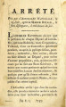 Arrêté pris par l'Assemblée nationale … [Decree taken by the National Assembly, June 23, after the...