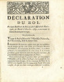Déclaration du roi … [Declaration of the king, supporting the decree of the National Assembly,...