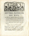 Lettres patentes du roi … [Patented letters from the King on the decree by the National...