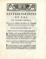 Lettres patentes du roi … [Letters patent of the king, in the form of edict, bearing sanction of...