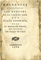 Doléances à Messieurs les Députés … [Complaints to the delegates of the city of Paris to the...