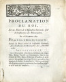 Proclamation du roi … [Proclamation of the king, on a decree of the national Assembly, for the...