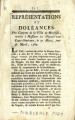 Représentations et doléances … [Representations and complaints of the citizens of Marseilles,...