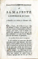 À Sa Majesté l'Empereur … [To his Majesty the Emperor and King of Brussels.: from the Bastille,...